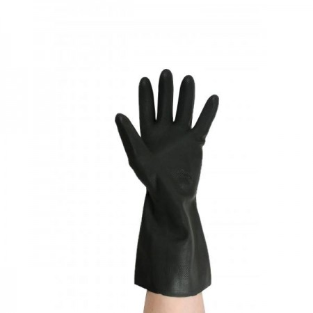 Gloves Black Rubber Heavy Duty Gloves