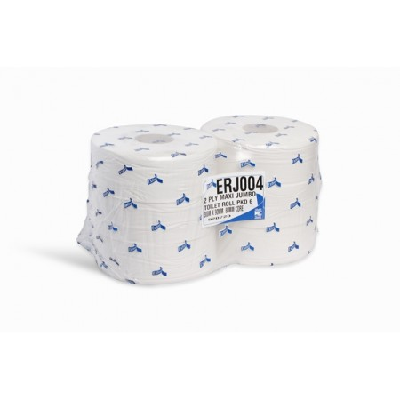 Esfina 2 Ply White Maxi Jumbo Toilet Roll 80mm Core