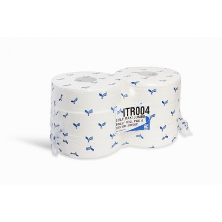 Toilet Roll 2 Ply White virgin jumbo 300 metre Esfina