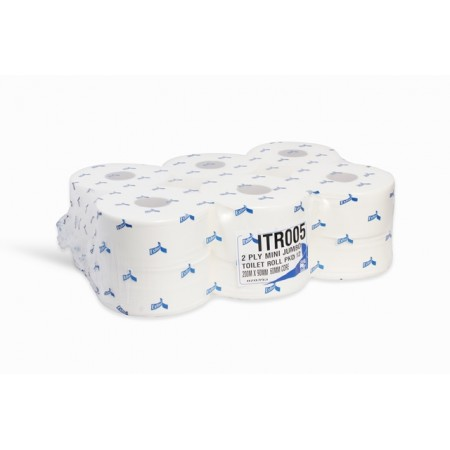 Toilet Rolls 2 Ply White Virgin  mini Jumbo Rolls Esfina