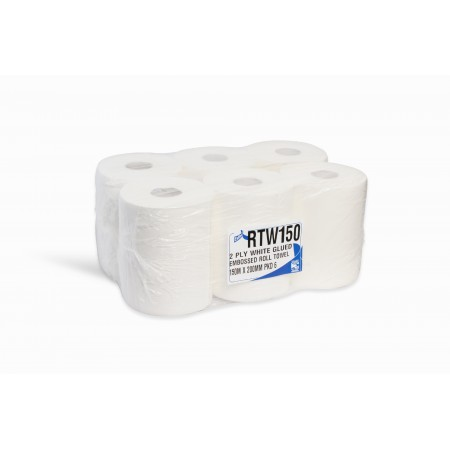 Esfina 2 Ply White Roll Towel