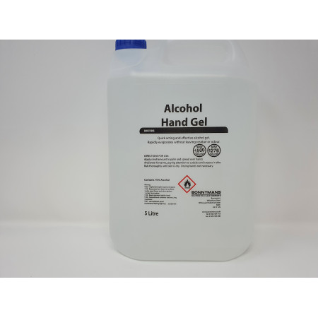 Sanitiser Alcohol Hand Sanitising Gel 5 LTR 70%