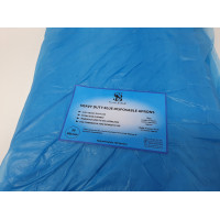 PPE Disposable Aprons Flat Packed Blue 30 Micron extra strong