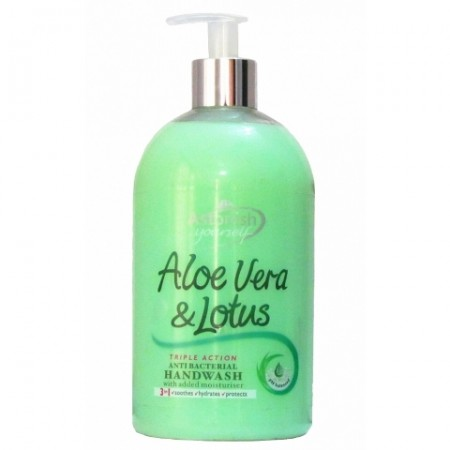 Hand soap Astonish Aloe Vera & Lotus Antibacterial Hand Wash