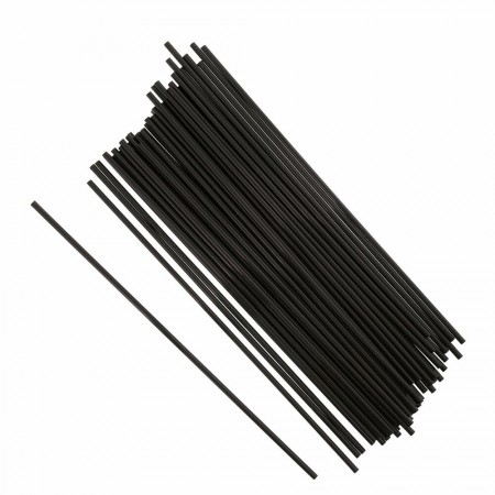 "Black 5.5"" Sip Straws 4.3mm"