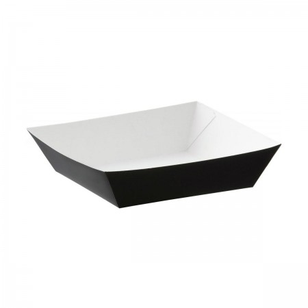 5 Inch Black Burger Tray HPBFT3