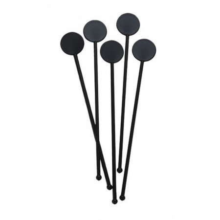 Black Cocktail Stirrers 7""