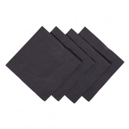 Black Cocktail Napkins 2ply