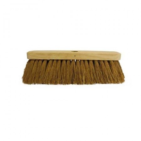 "Brushes 12"" Soft Coco Sweeping Broom Head"