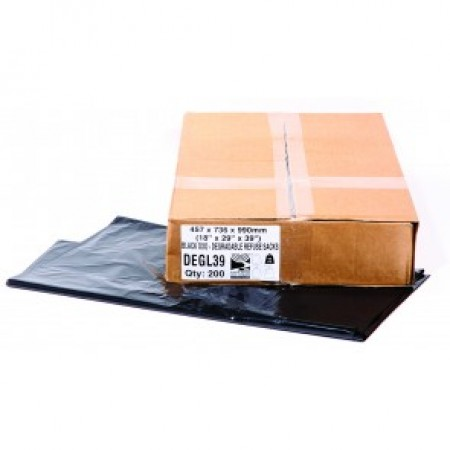 Bags Black Biodegradable Sack 140G 38""