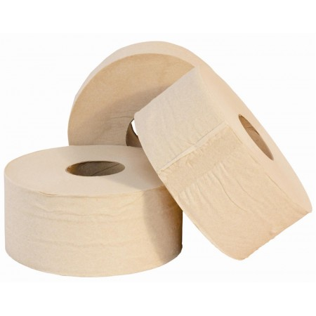 Eco Mini Jumbo Toilet Rolls Eco Natural Brown 2.25""