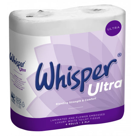 Toilet Roll 3 Ply Whisper Ultra