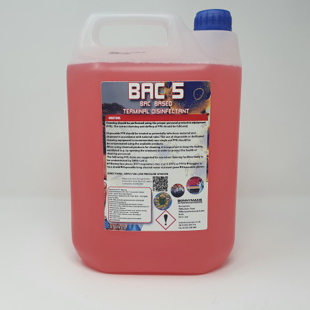 BAC 5 Antibacterial & Antiviral Surface Disinfectant 5LTR