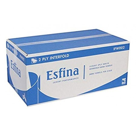 Esfina 2 Ply White Interfold Towel