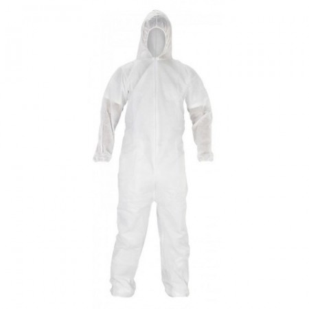 PPE Disposable Full Hooded Coverall Large