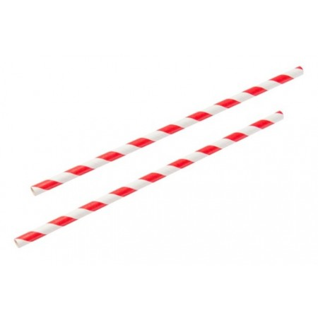 Paper Straws Red & White (250)